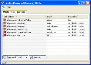 Firefox Password Recovery Master