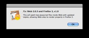Fix iWeb and Firefox