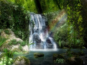 Forest Waterfall 3D Screensaver
