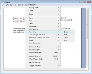 Formatted Text Control