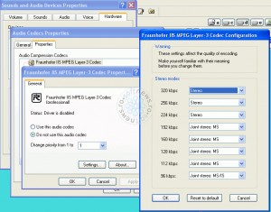 Fraunhofer Radium MP3 codec v1.263 Profesional