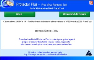 Free Virus Removal Tool for W32/Antivirus2008 FraudTool