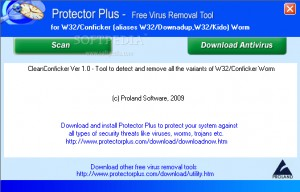 Free Virus Removal Tool for W32/Conficker (aliases W32/Downadup, W32/Kido) Worm