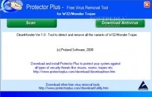 Free Virus Removal Tool for W32/Monder Trojan