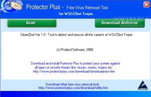 Free Virus Removal Tool for W32/Zbot Trojan