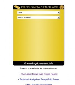 GoldScrap Calculator