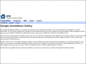 Google Annotations Gallery