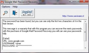Google Mail Password Recovery