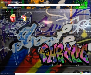 Graffiti Chrome theme