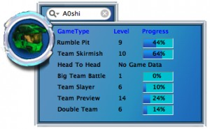 Halo Player Stats
