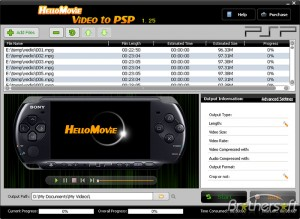 HelloMovie Video to PSP
