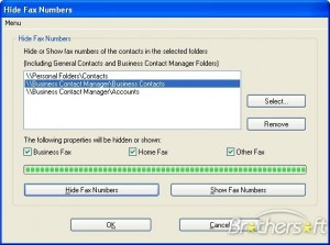 Hide Fax Numbers In Outlook