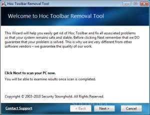 Hoc Toolbar Removal Tool