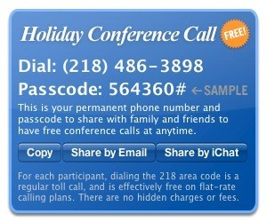 Holiday Conference Call