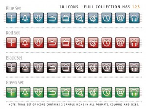 Icon Central Glass Office Set