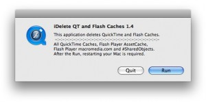 iDelete QT and Flash Caches