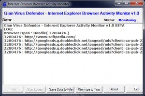 Internet Explorer Browser Activity Monitor