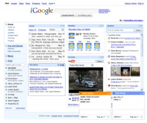 Internet Start Page Search Gadget