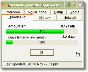 Internode Monthly Usage Meter