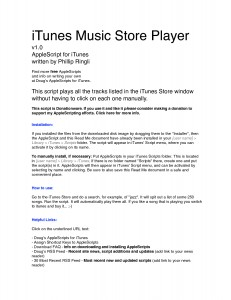iTunes Music Store Player