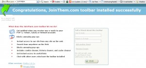 JoinThem.com toolbar for IE