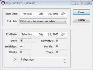 JoneSoft Date Calculator