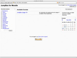 JumpBox for the Moodle Course Management System