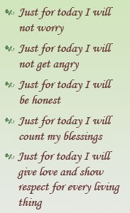 Just for Today