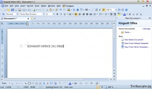 Kingsoft Writer 2012