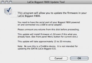 LaCie Biggest F800 Update Tool