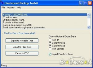 LiveJournal Backup Toolkit
