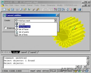Mesh4CAD 2004 - Mesh to solid