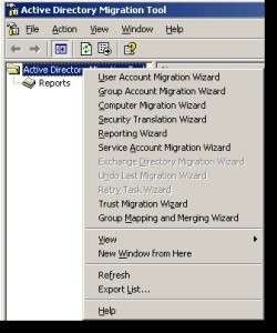Microsoft Active Directory Migration Tool