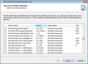 Microsoft Product Identification Tool