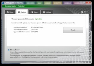 Microsoft Security Essentials & ForeFront Client Security Definition Updates