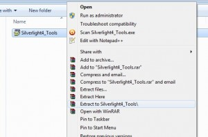 Microsoft Silverlight Tools for Visual Studio 2010 SP1