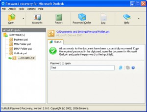 MS Outlook Password Recovery