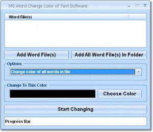 MS Word Change Color of Text Software