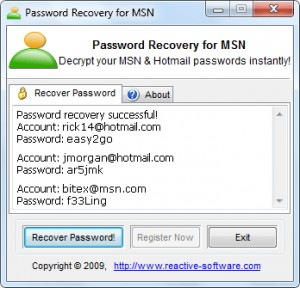 MSN Password Hacker