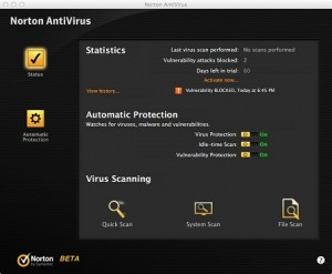 Norton AntiVirus X