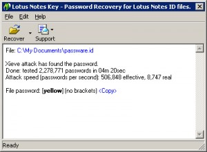 Notes Password Recovery