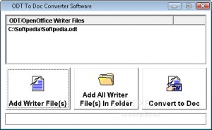 ODT To Doc Converter Software