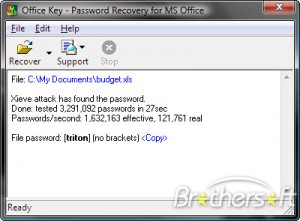 Office Password Recovery Key