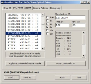 OmniPatcher for LiteOn/Sony Optical Drives 2 4 5 for Windows