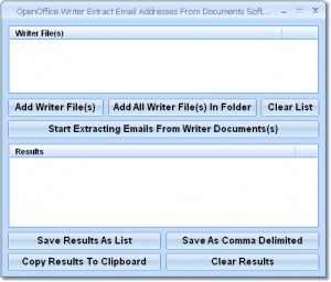 OpenOffice Writer Extract Email Addresses From Documents Software