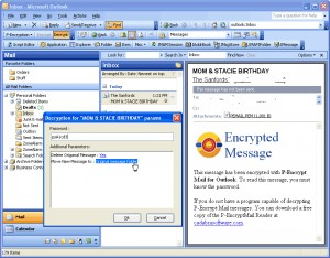 P-EncryptMail for Outlook