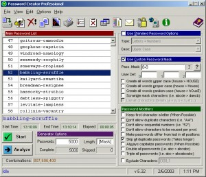 Password Creator Professional 5.41