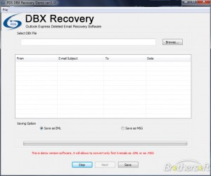PDS DBX Recovery