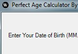 Perfect Age Calculator Portable