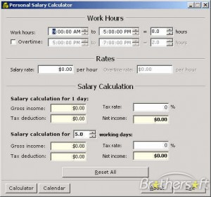Personal Salary Calculator  Salary Calculator